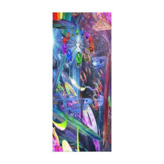 Espacio creativo lienzo envuelto para galerias