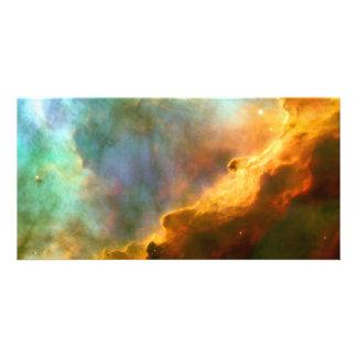 Espacio de Hubble de la nebulosa de Omega/del cisn Tarjetas Fotográficas