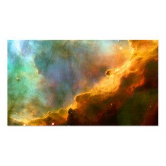 Espacio de Hubble de la nebulosa de Omega/del Tarjetas De Visita