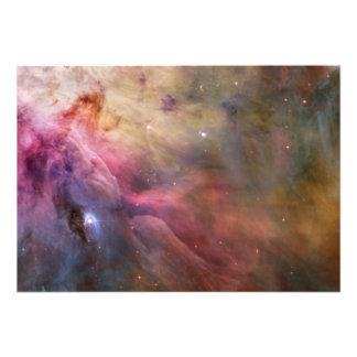 Espacio de Hubble de la nebulosa de Orión Impresiones Fotograficas