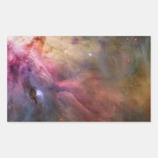 Espacio de Hubble de la nebulosa de Orión Pegatina Rectangular
