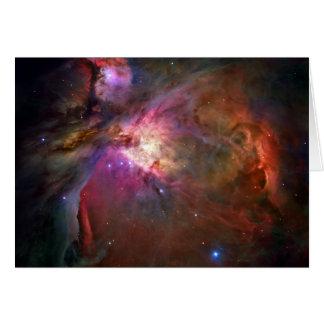 Espacio de Hubble de la nebulosa de Orión Tarjeton