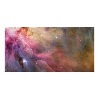 Espacio de Hubble de la nebulosa de Orión Tarjeta Fotográfica