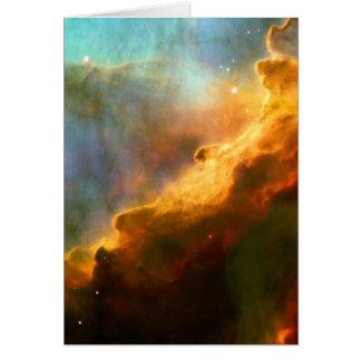 Espacio de Hubble de la nebulosa del cisne de Omeg Tarjeta De Felicitación