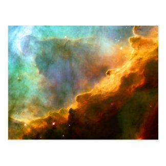 Espacio de Hubble de la nebulosa del cisne de Postal