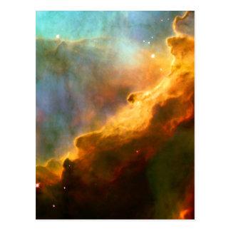 Espacio de Hubble de la nebulosa del cisne de Tarjeta Postal