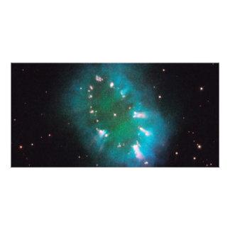 Espacio de Hubble de la nebulosa del collar Tarjeta Personal Con Foto