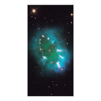 Espacio de Hubble de la nebulosa del collar Tarjetas Fotograficas