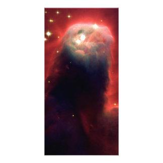 Espacio de Hubble de la nebulosa del cono Tarjetas Fotográficas