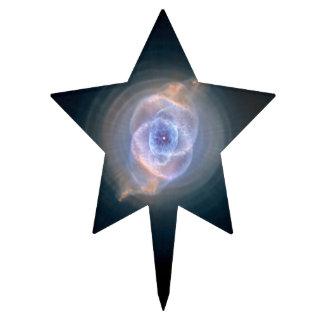 Espacio de Hubble de la nebulosa del ojo de gato Decoración Para Tarta