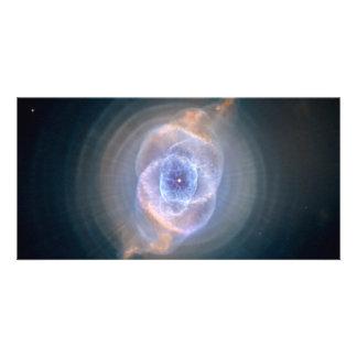 Espacio de Hubble de la nebulosa del ojo de gato Tarjeta Fotográfica