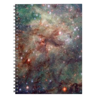 Espacio de Hubble de la nebulosa del Tarantula Libros De Apuntes Con Espiral