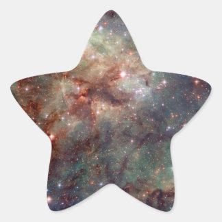 Espacio de Hubble de la nebulosa del Tarantula Pegatina En Forma De Estrella