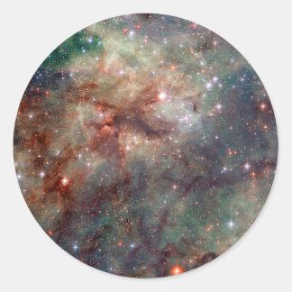 Espacio de Hubble de la nebulosa del Tarantula Pegatina Redonda