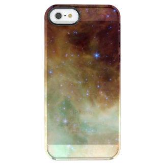 Espacio de la foto de la nebulosa de la galaxia y funda clearly™ deflector para iPhone 5 de uncommon
