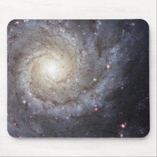 Espacio de la galaxia espiral diseño M74 magnífic Alfombrillas De Ratones