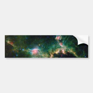 Espacio de la NASA de la nebulosa de la gaviota Pegatina De Parachoque