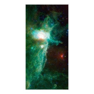 Espacio de la NASA de la nebulosa de la llama Tarjeta Fotografica