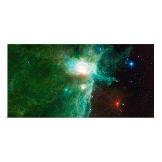 Espacio de la NASA de la nebulosa de la llama Tarjetas Personales Con Fotos