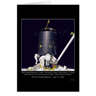 Espacio de la NASA de los astronautas Hieb, de Ake Tarjeta De Felicitación