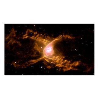 Espacio de la nebulosa de la araña roja tarjetas de visita