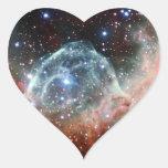 Espacio de la nebulosa del casco del Thor Calcomanía Corazón Personalizadas