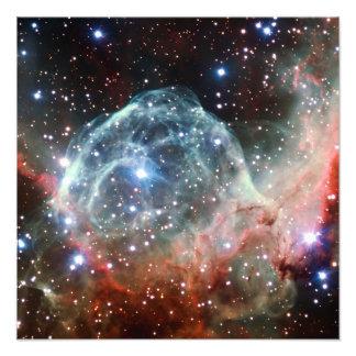 Espacio de la nebulosa del casco del Thor Impresiones Fotográficas
