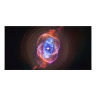 Espacio de la nebulosa del ojo de gato tarjetas fotograficas