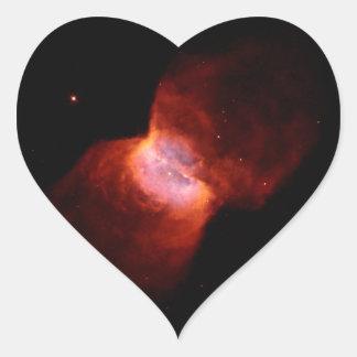 Espacio de la nebulosa planetaria NGC 2346 Colcomanias Corazon Personalizadas