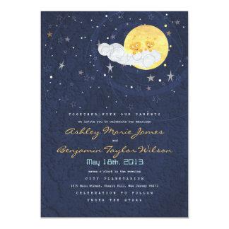 Espacio de la noche estrellada con la invitación