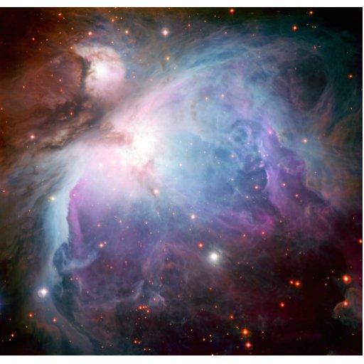 Espacio de la púrpura de la nebulosa de Orión Escultura Fotográfica