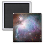 Espacio de la púrpura de la nebulosa de Orión Imán Cuadrado