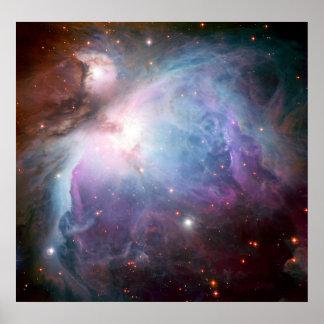 Espacio de la púrpura de la nebulosa de Orión Póster