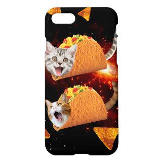 Espacio de los gatos del Taco Funda Para iPhone 7
