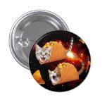 Espacio de los gatos del Taco Pin Redondo De 1 Pulgada