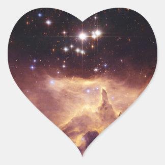 Espacio de Pismis 24 del cúmulo de estrellas Pegatina De Corazon
