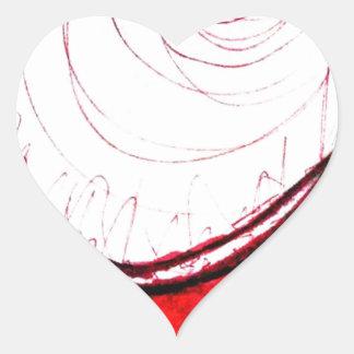 Espacio de probabilidad Transcender Pegatina En Forma De Corazón