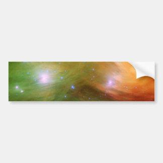 Espacio de siete de las hermanas estrellas de Plei Pegatina De Parachoque