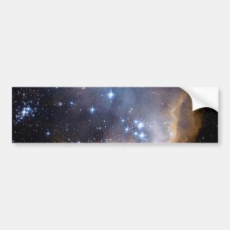 Espacio del cúmulo de estrellas N90 Hubble Etiqueta De Parachoque