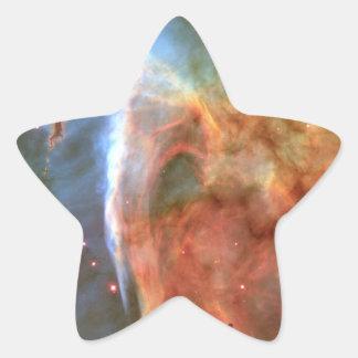 Espacio del detalle del ojo de la cerradura de la pegatina en forma de estrella