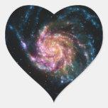 Espacio del espiral de la galaxia del molinillo de pegatina corazon