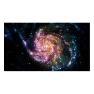 Espacio del espiral de la galaxia del molinillo de tarjetas de visita