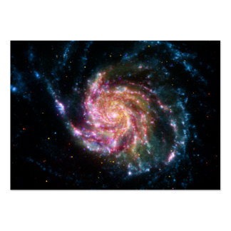 Espacio del espiral de la galaxia del molinillo de tarjetas de negocios