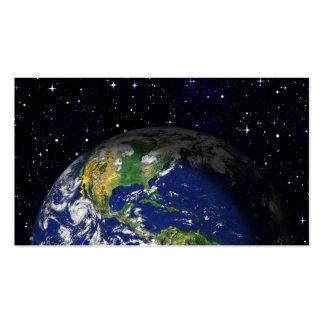 espacio del globo de la tierra del REALISMO de Tarjetas De Visita
