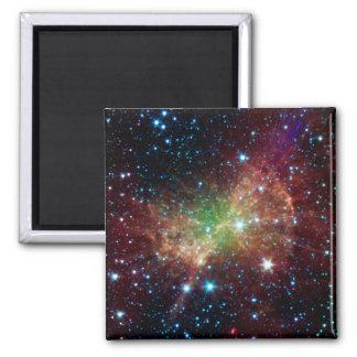 Espacio del infrarrojo de la nebulosa de la pesa d iman de frigorífico