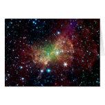 Espacio del infrarrojo de la nebulosa de la pesa d felicitacion