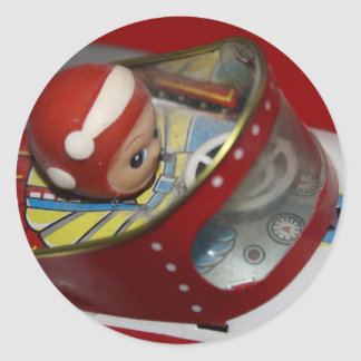Espacio del juguete de la lata/pegatinas de la pegatina redonda