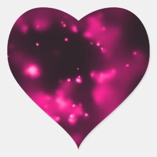 Espacio del rosa de la radiografía del calabozo pegatina en forma de corazón