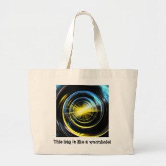 Espacio del wormhole bolsa tela grande