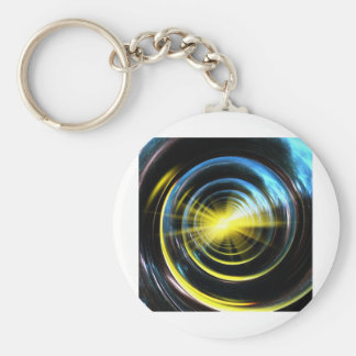 Espacio del wormhole llavero redondo tipo pin